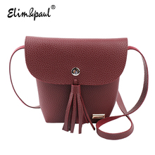 ELIM&PAUL Women Messenger Bags Women Fashion Korean Casual Tassel Bag Vintage Women Small Messenger Bags Crossbody Bags A009
