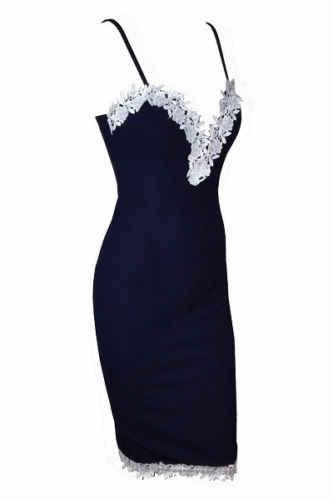 Сексуальное женское облегающее на бретелях с v-образным вырезом с цветочным рисунком кружевное платье Коктейльные Вечерние короткое платье; Демисезонный Спагетти ремень карандаш голубое платье