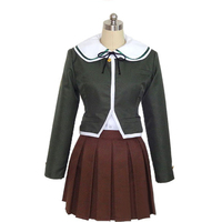Danganronpa cosplay Chihiro Fujisaki costume full set top and dress Carnival Cosplay Costume For Women Girls