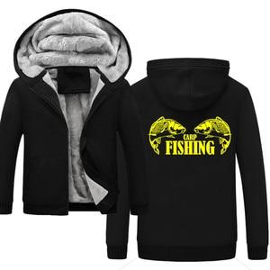 Image 5 - Cá chép Cá Động Vật Người Đàn Ông Hoodies Ấm Áp của Nam Giới Dày Nhung Rắn Áo Tracksuit Men Hoodies Và Áo Nỉ Áo Khoác