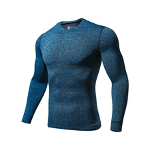 GYM Compression Quick Dry Compression Shirt Long Sleeves T-shirt Plus Size Fitness Clothing Solid Color Bodybuilding Crossfit цена