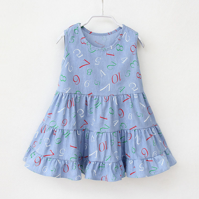 Printed, Cotton, Summer, Clothes, Girls, Kids