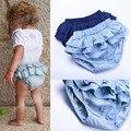 2016 verão do bebê da menina do algodão saia tutu bloomer shorts criança capa de fralda infantil