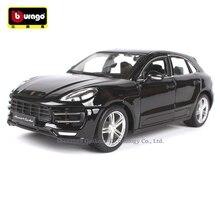 цена на Bburago 1:24 Porsche Macan simulation alloy car model crafts decoration collection toy tools gift