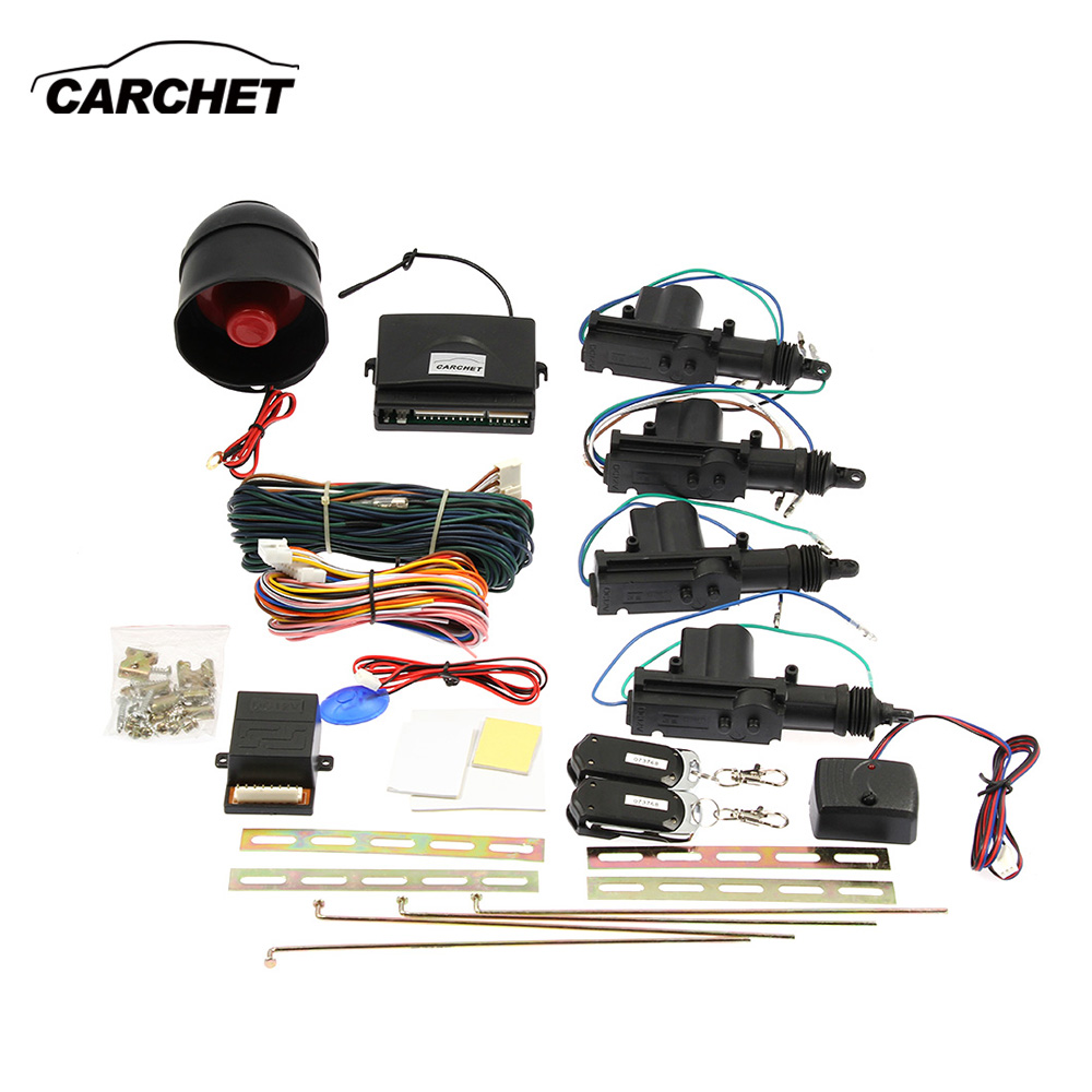 CARCHET Remote Keyless Entry Security + Car Alarm 4 Door Power Lock Actuator Vehicle Kit Universial for Toyota Honda Ford for VW