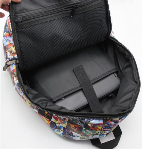 Super héros sac à dos PU cuir Marvel Comics ordinateur école livre sac 42x30x12 cm - 4