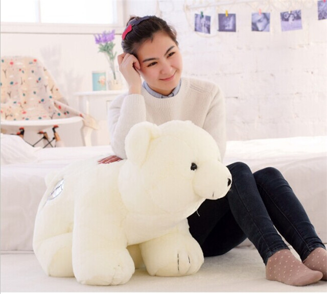large 75cm white bear toy standing polar bear plush toy throw pillow ,birthday gift h974 stuffed animal 44 cm plush standing cow toy simulation dairy cattle doll great gift w501
