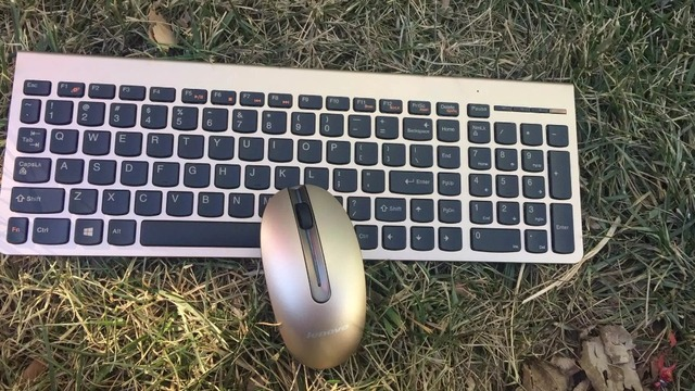 eb5b25f760d MAORONG TRADING For Lenovo SK8861 KM5922 Silver Golden Wireless Laser Slim  Comfortable Keyboard And Mouse Set Combo US Keyboard