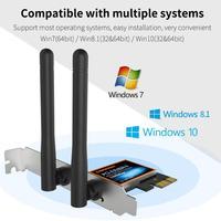 CF WP1300 1300Mbps WiFi PCI Express X1/X4/X8/X16 Slot Adapter Desktop Card Simulation AP Function for Realtek RTL8822BE