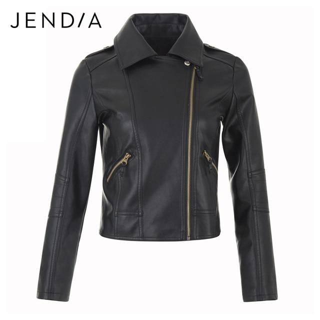 JENDIA Brand New Punk Motorcycle Leather Jacket Women Winter And Autumn Fashion PU Leather Coats Zipper Basic jackets Outerwear