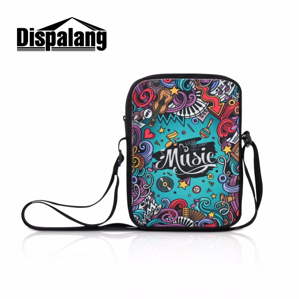 Dispalang Print picture Small object pack bag for Boys girls customize patterns Cross body Bags for Teens mini Messenger Bag kid