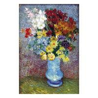 Flores Em um Vaso Azul por Vincent Van Gogh Reprodução Da pintura a óleo Handmade da arte da Lona de Alta qualidade|Pintura e Caligrafia|Casa e Jardim -