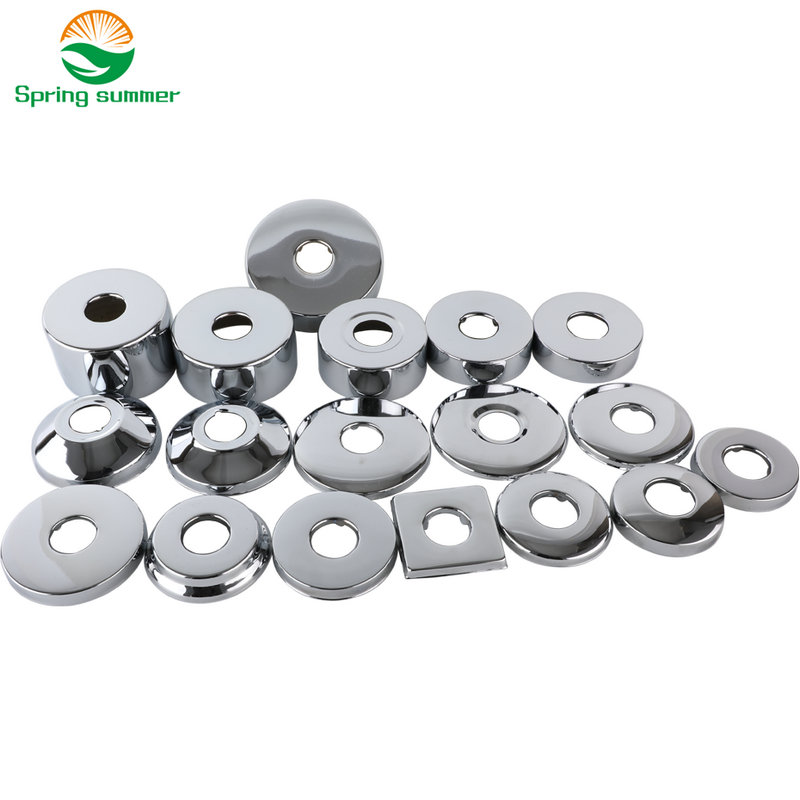 SPRING SUMMER DN15 1/2 20mm Shower Faucet Decorative Cover Chrome Finish Stainless Steel Cover Bathroom Accessories ZZG01