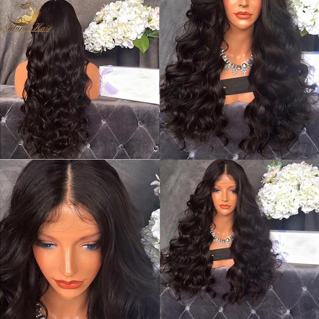 180% Плотность Полный Шнурок Glueless Человеческих Волос Парики Фронта Шнурка парики Объемная Волна Фронта Шнурка Человеческих Волос Парики Для Черного женщины
