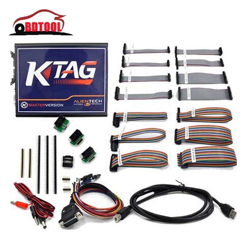 Prix pour Nouveau V2.10 KTAG K-TAG Programmation de L'ECU outil Maître Version Matériel V5.001 KTAG V2.10 Puce Tunning Outil