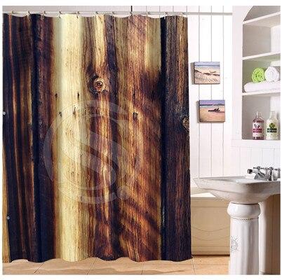Custom Wood art Home Decor barn wood background minimalist Fabric Modern Shower Curtain European Style bathroom Waterproof