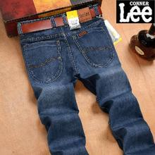 CONNER LEE jeans men back pocket stripe high quality pants jeans male Casual straight jeans Denim cotton Skinny jean mens