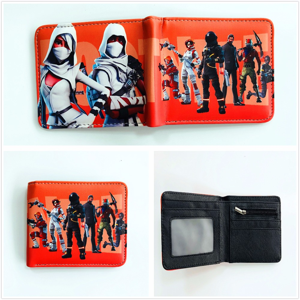 Game Fortnite Cosplay Wallet Men Women Short PU Purse Credit Card Holder Wallet W950Y