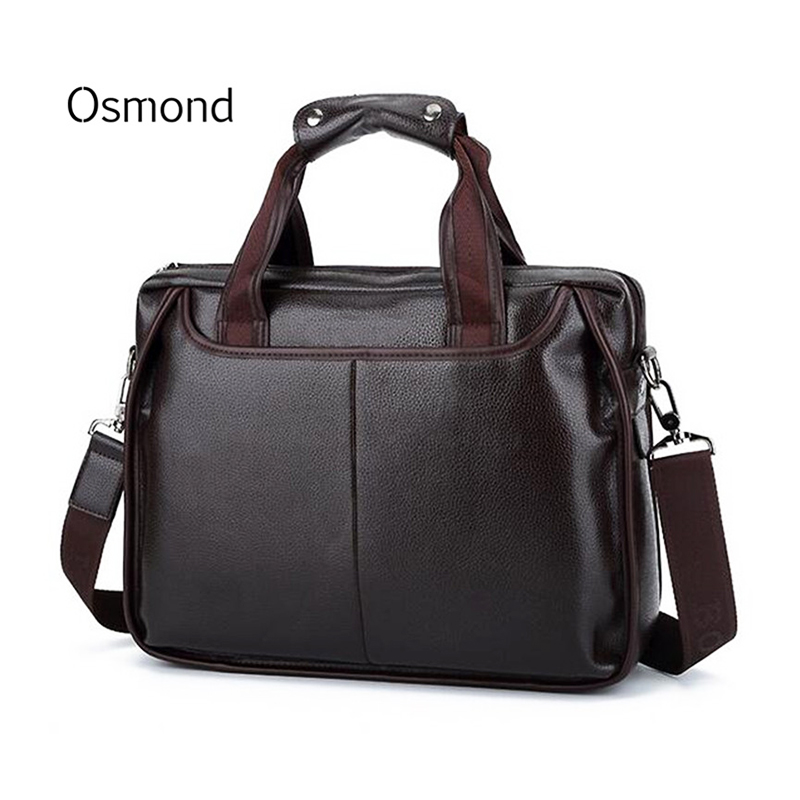 купить 2018 Vintage Men's Bag Leather Men Briefcase Famous Brand Shoulder Bag Messenger Bags Causal Handbag Laptop Briefcase Male Bolsa по цене 1676.14 рублей