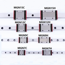 1 шт Линейный направляющей MR7/MR9/MR12/MR15 Rail 100 мм до 600 мм с мини 7C/7 H/9C/9 H/12C/12 H/15 H/15C каретки DIY ЧПУ Запчасти