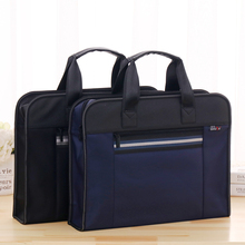 High Capacity A4 Zipper Men Briefcase Document Bags Portable Business Travel Bag Multifunctional Waterproof Canvas