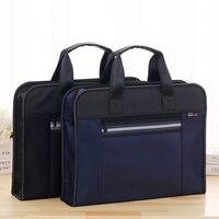 b6a57cf98b3cb High Capacity A4 Zipper Men Briefcase Document Bags Portable Business  Travel Document Bag Multifunctional Waterproof Canvas