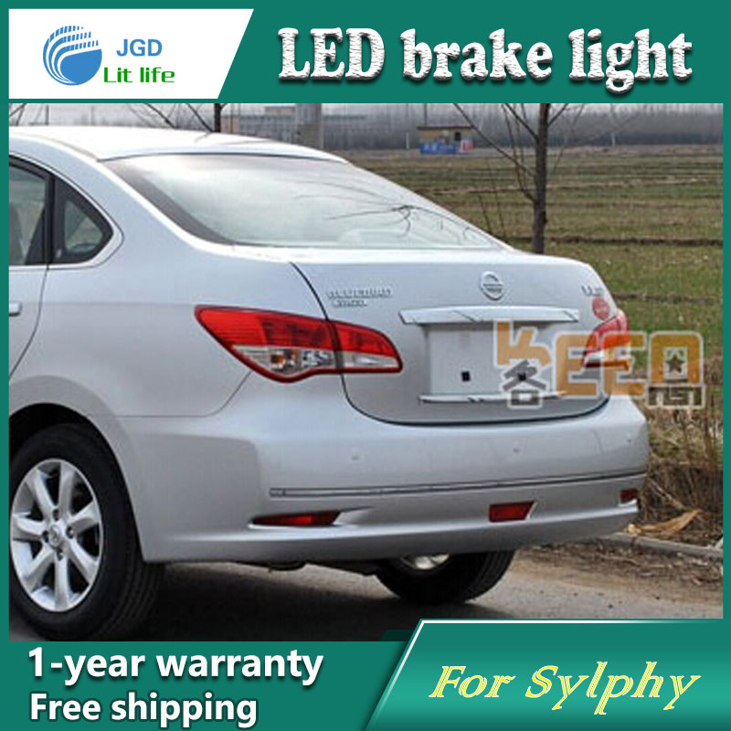 Car Styling Rear Bumper LED Brake Lights Warning Lights case For Nissan Sylphy 2008-2012 Accessories Good Quality dongzhen fit for nissan bluebird sylphy almera led red rear bumper reflectors light night running brake warning lights lamp