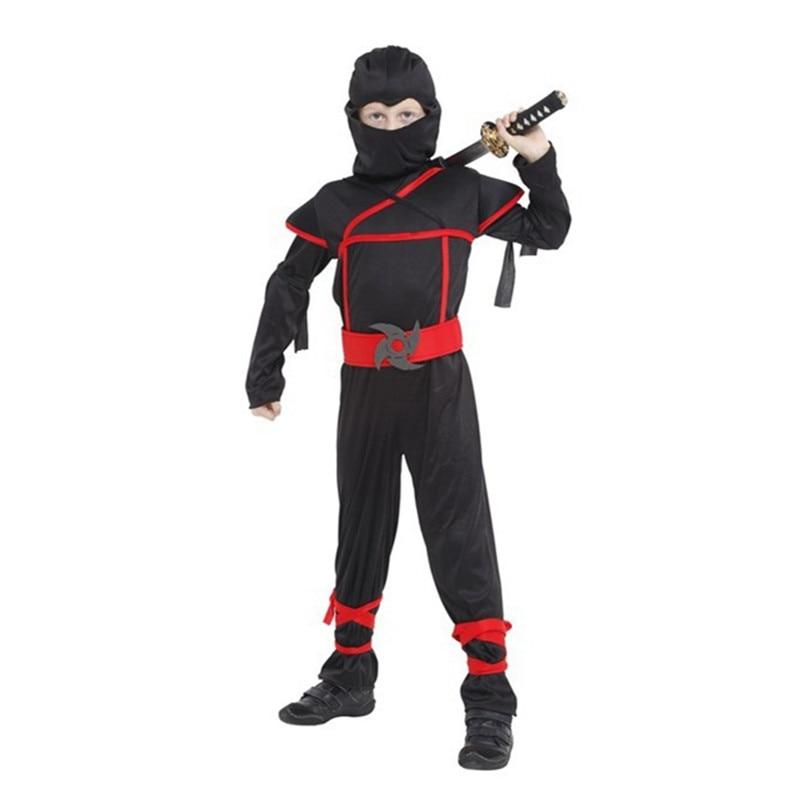 Niños Ninja Cosplay disfraces Navidad Año Nuevo Purim Festival Ninja disfraces para niños fiesta de lujo