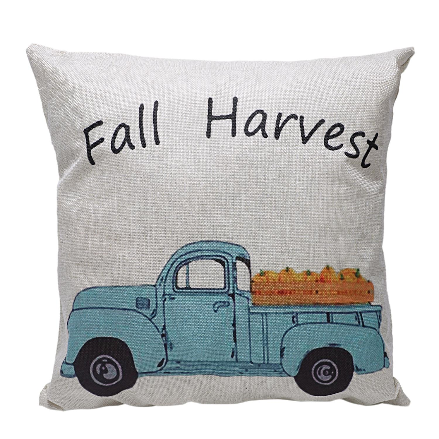 Image 2 - Hot Fall Pumpkin Harvest Decorative Throw Pillow Cases Autumn Thanksgiving Pillow Covers Square 18x18 inch, Halloween Cot-in Pillow Case from Home & Garden