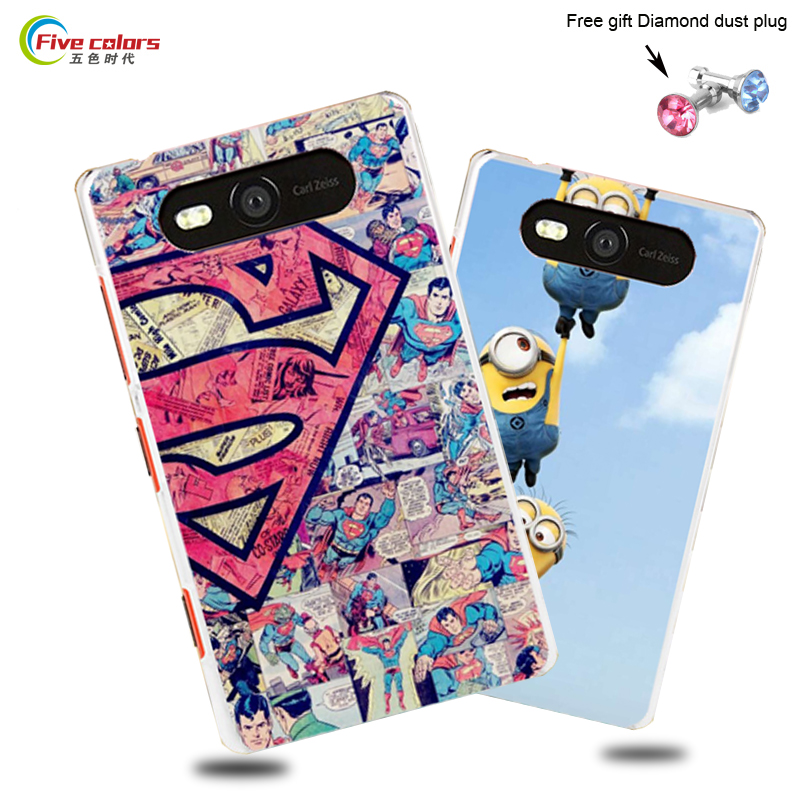 For Nokia Lumia 820 Case Colorful Cute Cartoon Painting Drawing Hard PC Plastic Cover Case For Nokia Lumia 820 N820 Phone Cases