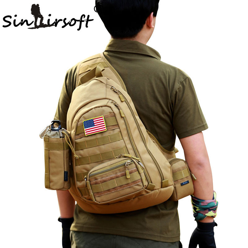 SINAIRSOFT Outdoor Sports Bag Military Camping Hiking Bag Tactical Backpack Utility Camping Travel Hiking Trekking Bag LY0034 600d outdoor sports bag shoulder military camping hiking bag tactical backpack utility camping travel hiking trekking bags