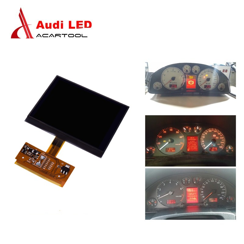 New For Audi Display Screen for Audi A3 A4 A6 S3 S4 S6 VDO for V-W VDO LCD Cluster Instrument Cluster Dashboard Pixel Repair(China)