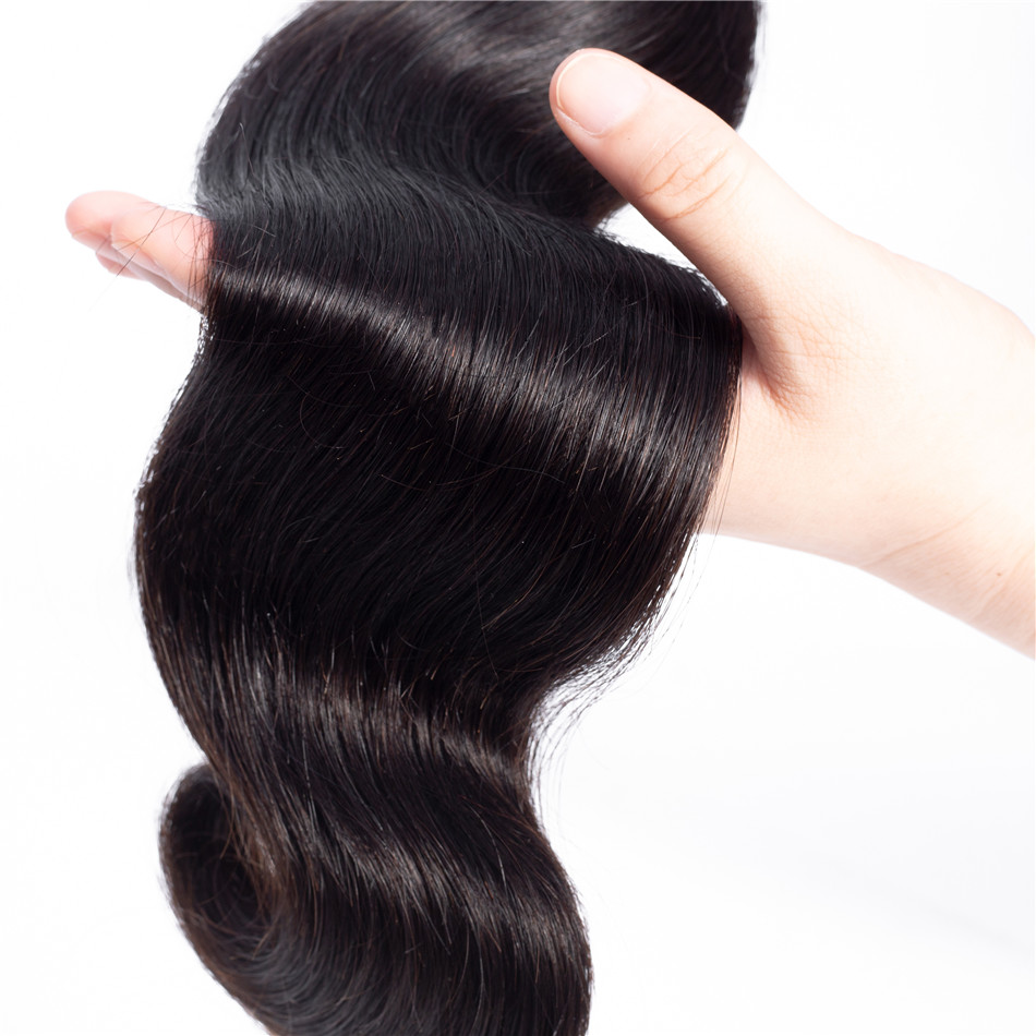 Body Wave Bundles Brazilian Hair Weave Bundles Human Hair 28 30 Inch Bundles Double Weft Non Remy Natural Color Hair Extension