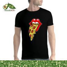 Pizza Lips Pepperoni Mens T-shirt XS-5XLStreetwear Funny Print Clothing Hip-Tope Mans T-Shirt Tops Tees Hot Sale Men T Shirt цена