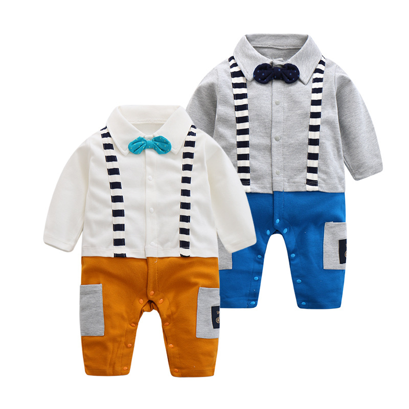 18 years new autumn baby pure cotton jumper baby long-sleeved hardy clothes creeping clothes newborns 0-12m