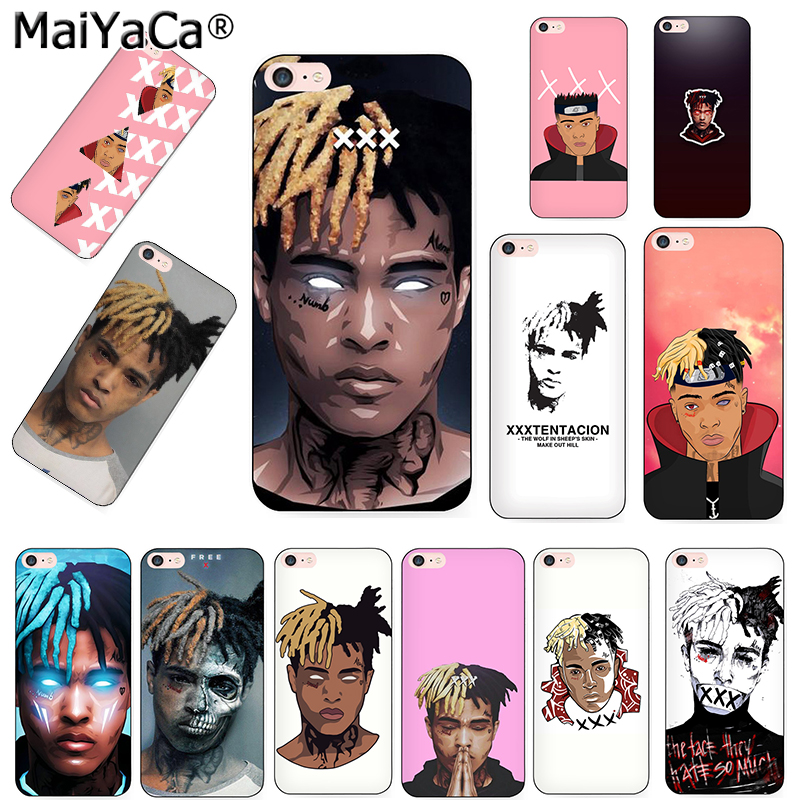 MaiYaCa Xxxtentacion fashion design skin thin black cell Case for iPhone 8 7 6 6S Plus X XS XR XS MAX  10 5 5S SE 5C case Coque slipper