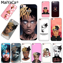 MaiYaCa Xxxtentacion fashion design skin thin black cell Case for iPhone 8 7 6 6S Plus X XS XR XS MAX  10 5 5S SE 5C case Coque