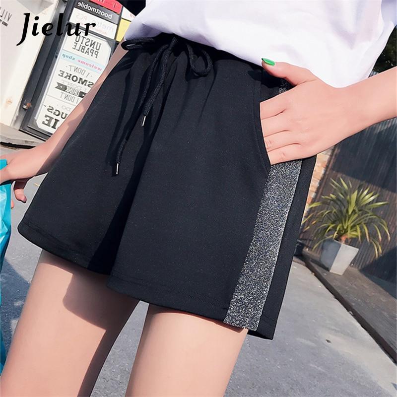 Jielur Korean Style Short Femme Casual Young Girl Comfortable Shorts Summer Loose M-XXL High Waist Elastic Waist Shorts Dropship