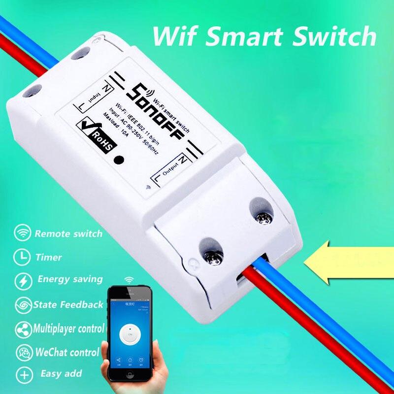 Itead Sonoff Inteligente Interruptor do Temporizador Sem Fio Interruptor de Controle Remoto Wi-fi Diy, Sonoff S20 UE Tomada Inteligente WiFi, casa inteligente 10A/2200 w