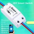 Itead Sonoff Smart Control Remoto interruptor Wifi Diy temporizador interruptor inalámbrico, Sonoff S20 toma WiFi inteligente UE, hogar inteligente 10A/2200W