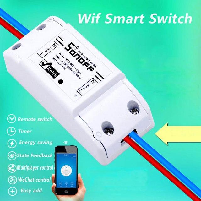 Itead Sonoff inteligente Wifi Control remoto interruptor de temporizador inalámbrica interruptor Sonoff S20 UE WiFi inteligente hembra hogar Inteligente 10 A/2200 W