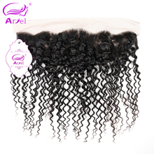 Ariel Afro Kinky Curly Frontal Closure 13*4 Brazilian Remy Human Hair Closure Free Shipping