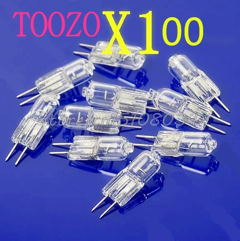 100X Halogen Light Bulb 20W 20 Watt 12V G4 Base JC Type S08 Drop ship