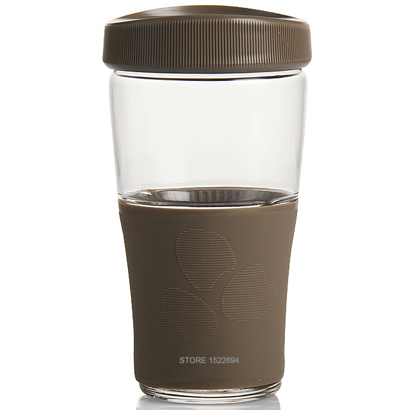 16 5oz Coffee Cup Reusable Cup Leakproof Cover Tea Water Cup with Body Protector Arround