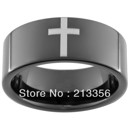 Compare Prices on Tungsten Cross Ring Online ShoppingBuy Low
