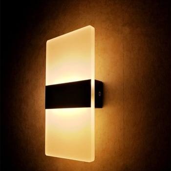 3 W/5 W/6 W Led Enciende la lámpara AC85-265V de La Lámpara de Pared Aplique de Pared de Acrílico Decorativo Living Luces de Pasillo Dormitorio Pared