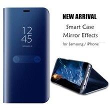 Флип окно Мода чехол для samsung Galaxy Note 8 5 S9 S8 плюс S7 край S6 для iPhone X 8 7 плюс 6 S 6 Plus Аксессуары