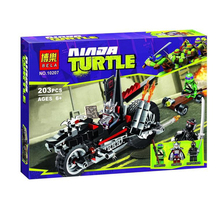 Bela 10207 Teenage Mutant Ninja Turtles Schneider Fast Dragon Motor Toys Building Block Sets