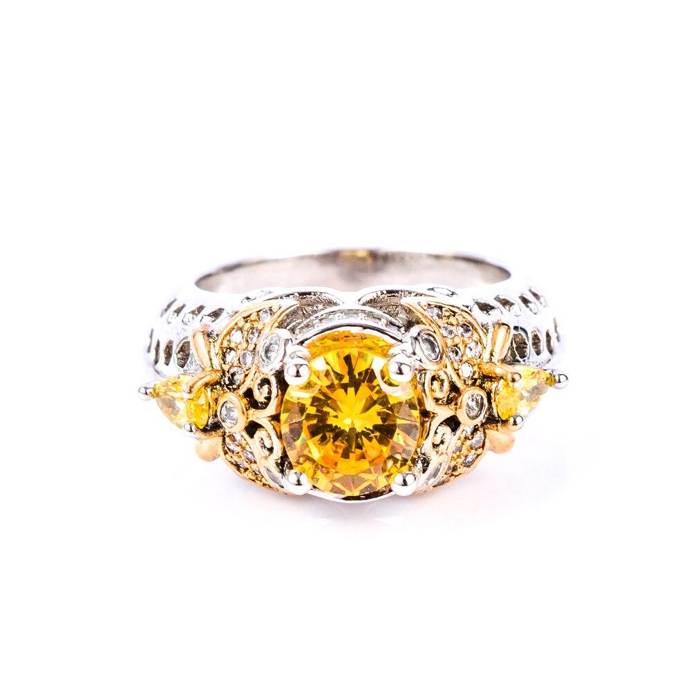 1 Pc Mode Schmuck Biene Edelsteine Schmuck Yyellow Farbe Breite Charms Big Ringe Für Frauen Größe 6-10 Ringen Voor Women Ausgereifte Technologien