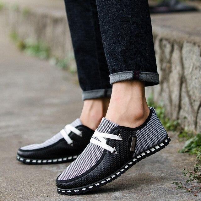 Cộng với Kích Thước Mốt Nhất Thời Giản Dị Giày Vulcanize Sneakers Giày Đế Người Đàn Ông Giày Thoải Mái Mùa Thu Breathable Hipster Nam Căn Hộ Giày
